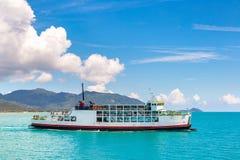 Ferry near Koh Phangan island. Thailand in a summer day royalty free stock photos
