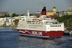 Ferry near Stockholm, Sweden. Royalty Free Stock Photos