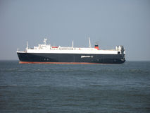 Ferry on the North Sea. Ferry for transportation of cars in the North Sea Stock Images