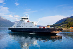 Ferry in Norway Royalty Free Stock Images
