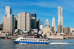 A ferry from NY Waterway tour Stock Images