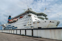 Ferry in Nynashamn near Stockholm Stock Images