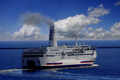 Ferry on the ocean Royalty Free Stock Photo