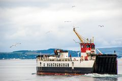 Ferry Crossing. A ferry operating at the coast of Ayrshire, in Scotland royalty free stock photography