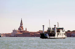Ferry over the Canale della Giudecca, Venice Italy Stock Photography