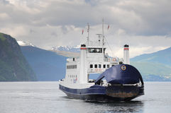 FERRY OVER FJORD Royalty Free Stock Image