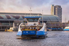 Ferry over the IJ (IJveer) in Amsterdam Centre Royalty Free Stock Photography