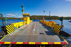 Ferry. Over lake in Finland standing at shore Stock Image