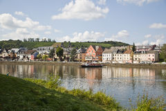Ferry over Rhine river Stock Image