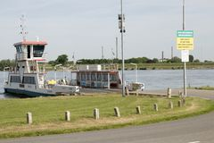 Ferry over river Waal royalty free stock photos