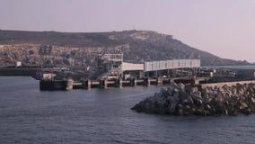 Ferry passenger terminal stock video