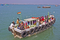Ferry with passengers Royalty Free Stock Photo