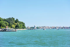 Ferry with passengers sailing  to Venice ,Italy Stock Images