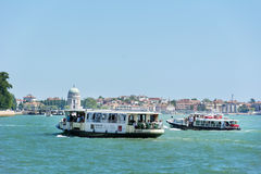 Ferry with passengers sailing  to Venice ,Italy Stock Photography
