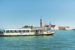 Ferry with passengers sailing  to Venice ,Italy Royalty Free Stock Photography