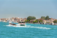 Ferry with passengers sailing  to Venice ,Italy Royalty Free Stock Image