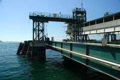 Ferry Pier. View of vehicle entrance pier to ferry Royalty Free Stock Photos