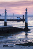 Ferry pier in the center of Lisbon Royalty Free Stock Images
