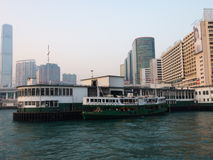Ferry Pier in Hong Kong Stock Photos
