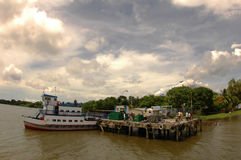 Ferry Pier in Nicaragua. Docking a small Ferry Pier in Ometepe, Lake Nicaragua (1/07/08 Stock Photography