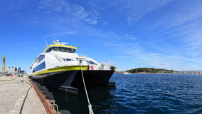 Ferry in Port Stock Image