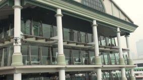 Ferry, port de Hong Kong 2013 banque de vidéos