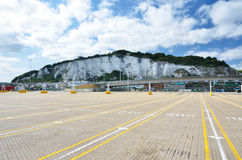 Ferry Port Dover. Ferry port of Dover with chalk cliffs Stock Images