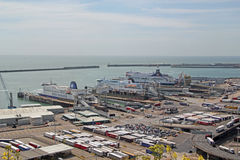 Ferry Port Dover Docks Stock Image
