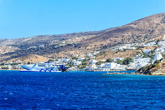Ferry port of the Greek Island Ios Royalty Free Stock Photo