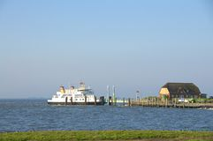 Ferry port on Hallig Langeness Royalty Free Stock Image