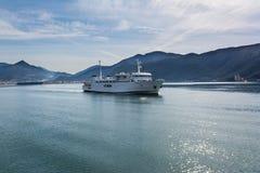 Ferry from port of Igoumenitsa to Corfu Island, Greece. Sea landscape Royalty Free Stock Image