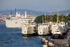 Ferry Port in Istanbul Royalty Free Stock Photography