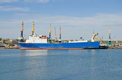 Ferry in the port of Kerch Stock Image