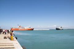 Ferry port of Kilini, Greece. KILINI, GREECE - AUGUST 2017: The Ferry port in Kilini in Greece with ferries going to Kefalonia island Stock Photo