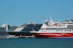 Ferry in port of Tallinn, Estonia Stock Images