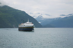 Ferry on Prince William Sound in Alaska Royalty Free Stock Photo