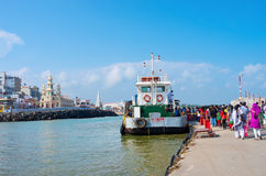 Ferry public dans Kanyakumari, Inde Images stock