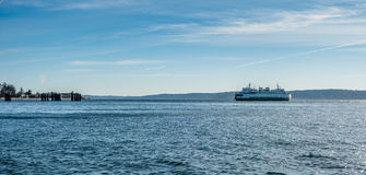 Ferry On The Puget Sound Royalty Free Stock Images