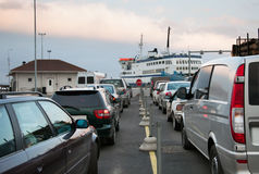 Ferry Queue Royalty Free Stock Photo