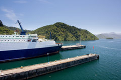 Ferry ready to sail away Stock Image