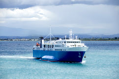 Ferry returning to port Royalty Free Stock Photos