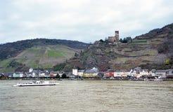 Ferry on the Rhine Stock Photos