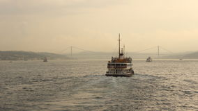 Ferry ride at sunset in Istanbul Stock Photos