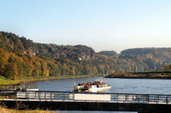 A ferry on the river Stock Image