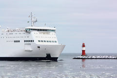 Ferry in Rostock Stock Images