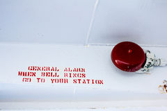 Ferry's General alarm bell. Royalty Free Stock Photos