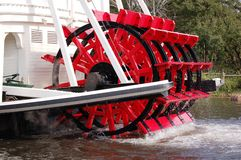 Ferry's Turbine. Red turbine of the vintage steam engine ferry at the lake Stock Image