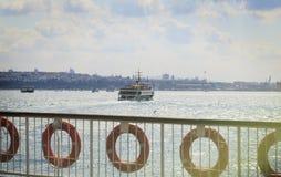 Ferry sailing in Bosporus,Passenger boat,Istanbul, Turkey. Stock Images
