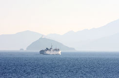 Ferry sailing from Piombino to the island of Elba, Italy Royalty Free Stock Photo