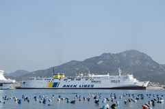Ferry sardinia italy Royalty Free Stock Image